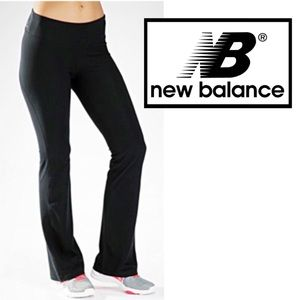 NWOT New Balance, Black Bootcut Cuff Leggings